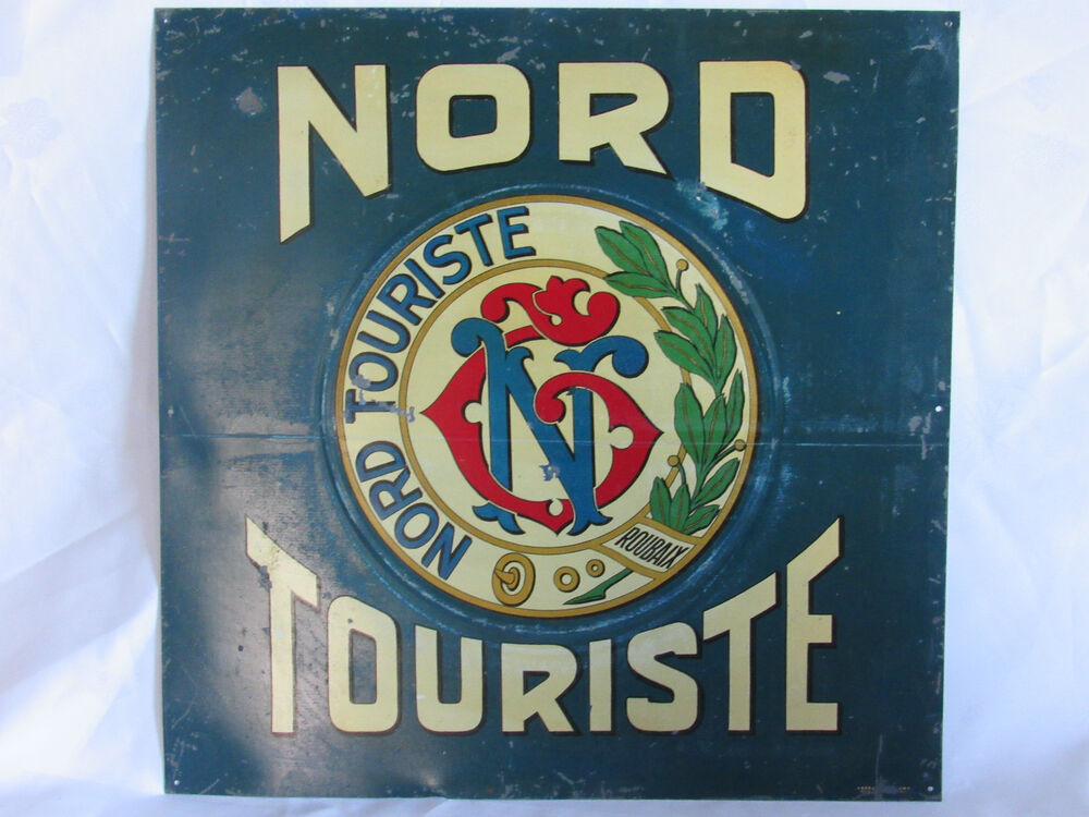03c29 ancienne plaque t le publicitaire nord touriste roubaix velo non emaillee ebay. Black Bedroom Furniture Sets. Home Design Ideas
