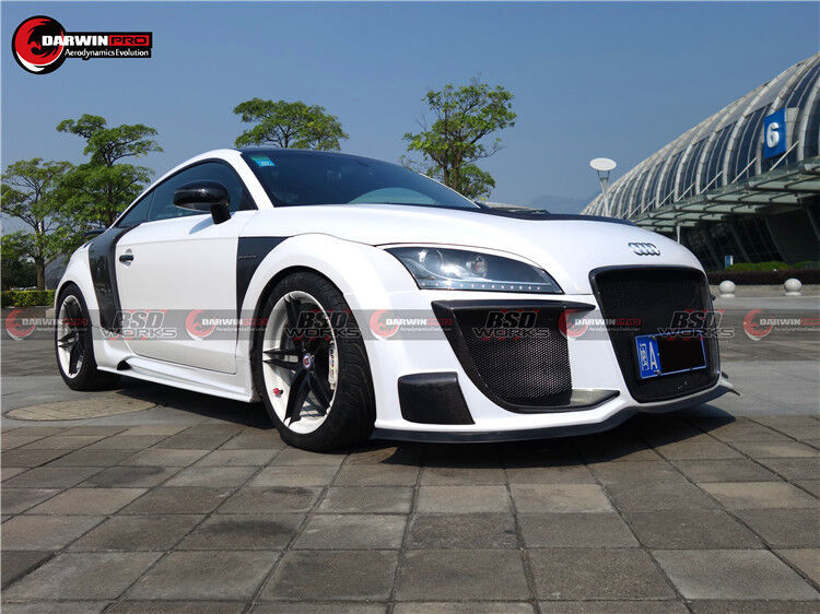 2007 2014 audi tt tts rg r8 style full body kit bumpers skirts qp side covers ebay. Black Bedroom Furniture Sets. Home Design Ideas