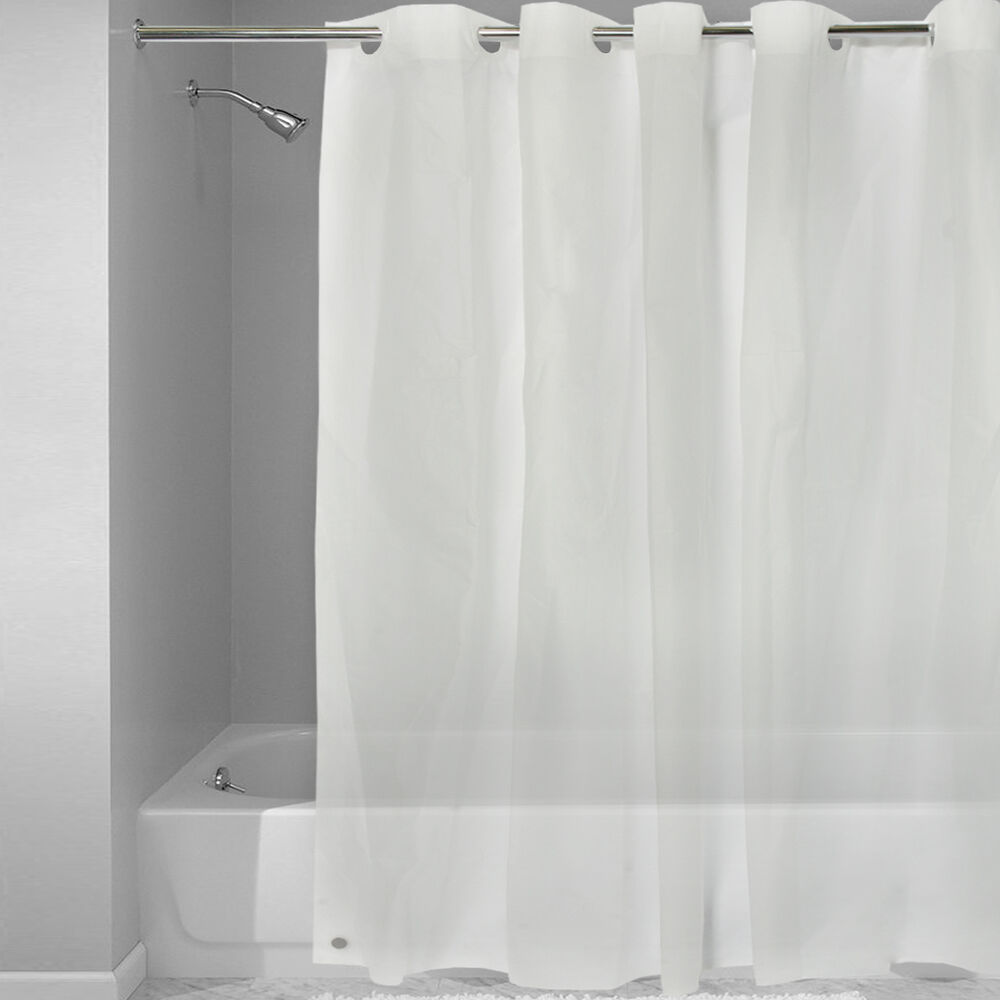 "EZ On Frosted Clear EVA Plastic 72"" X 72"" Hookless Shower"