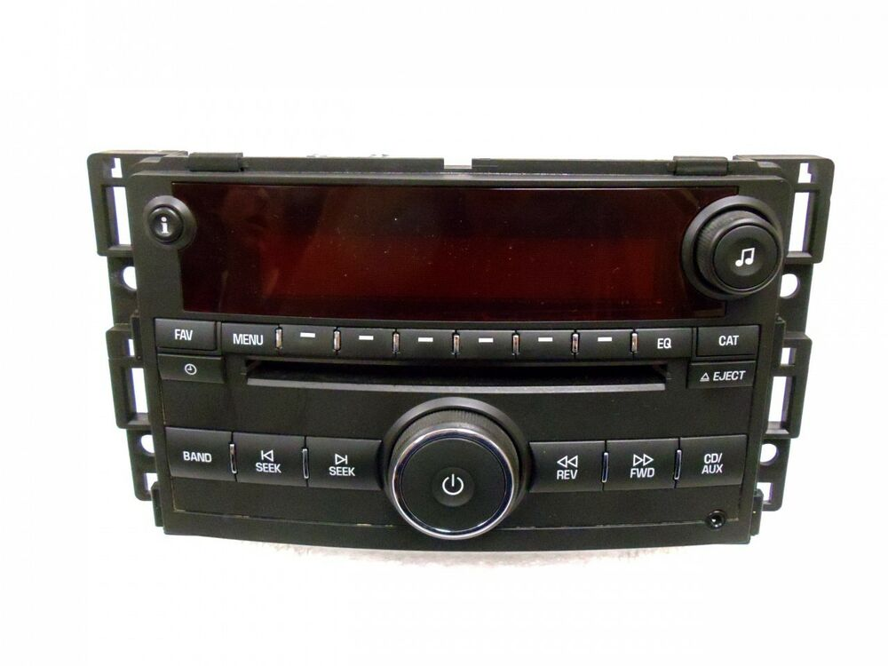 saturn ion vue radio mp3 cd player stereo 15878975 15790419 oem receiver am fm ebay. Black Bedroom Furniture Sets. Home Design Ideas