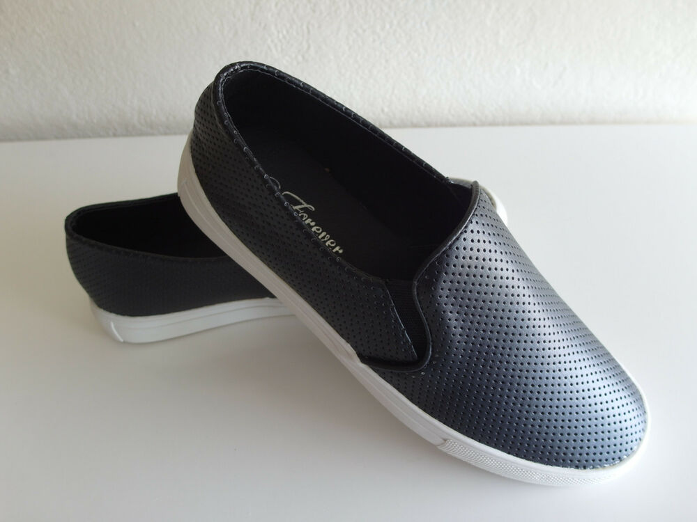 Perforated Slip On Sneakers Women Size 5 10 Brand New