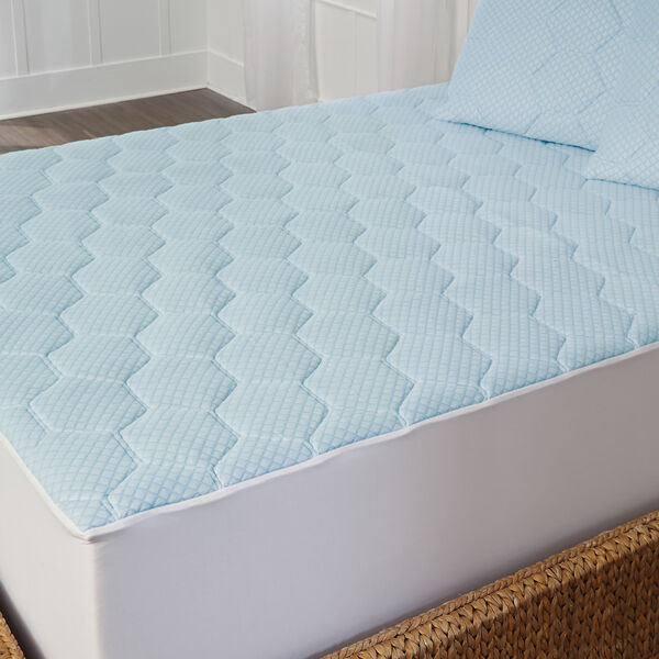 King Size Cooling Gel Memory Foam Mattress Pad Bed Topper