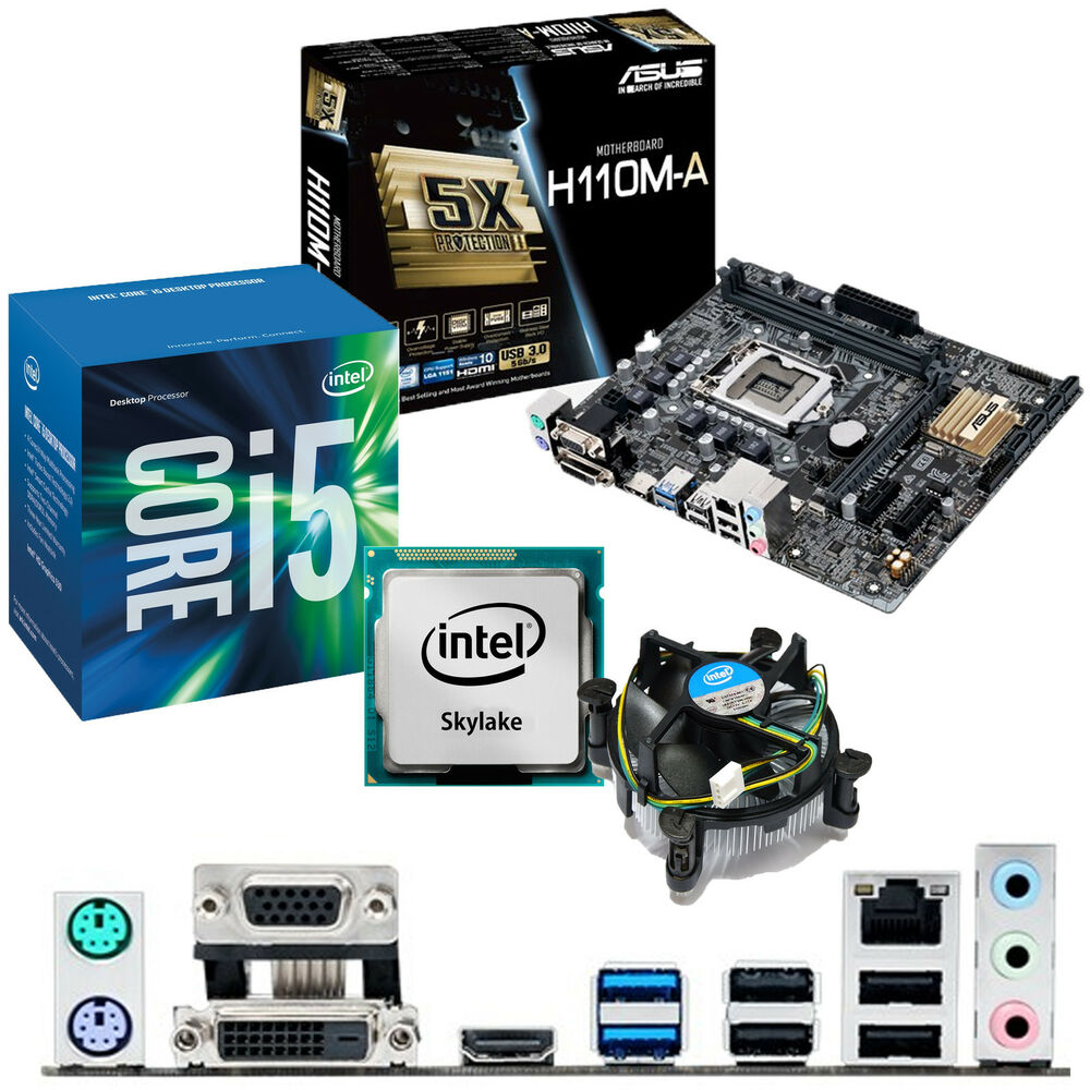 INTEL Core i5 6400 2.7Ghz & ASUS H110M-A - Motherboard ...