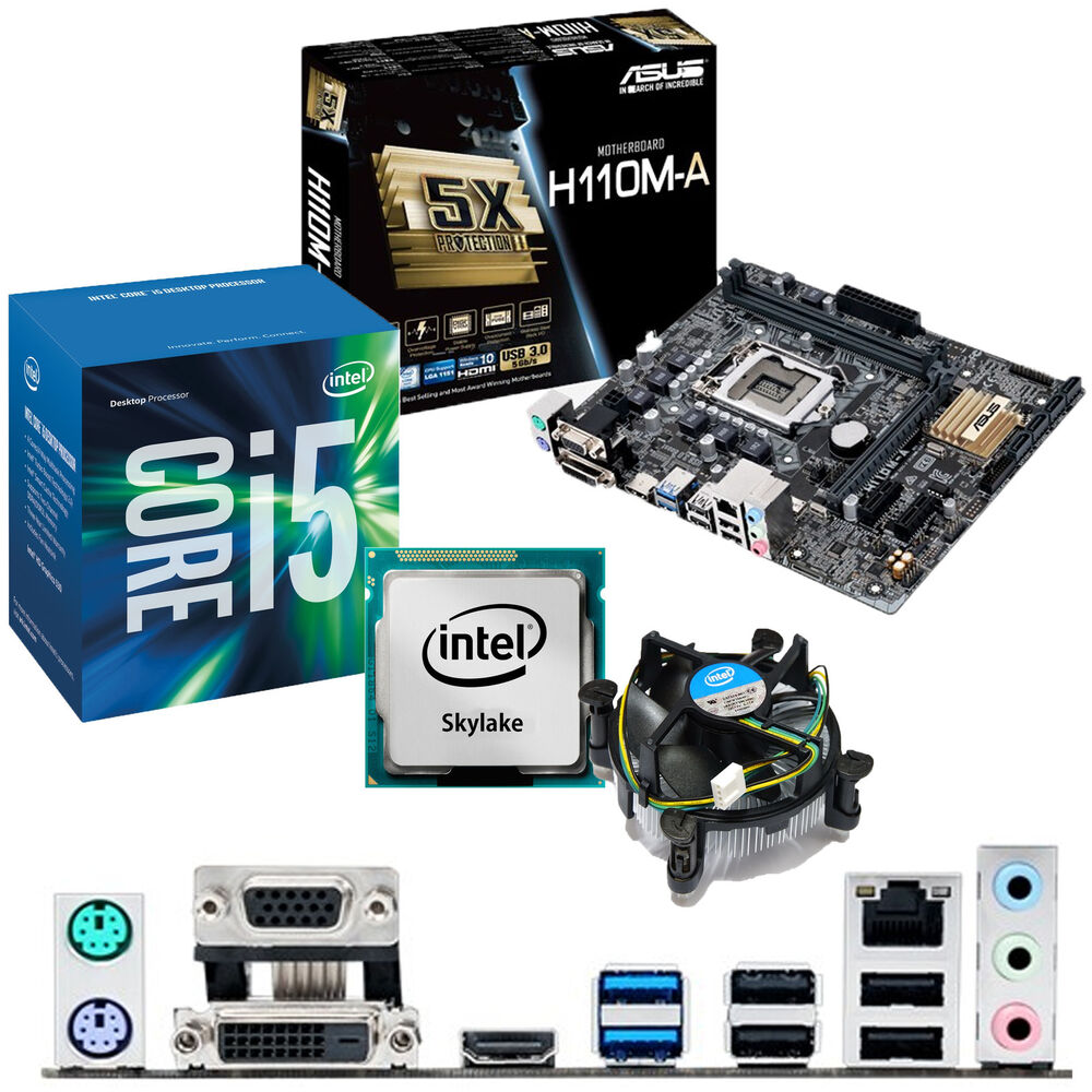 intel core i5 6400 2 7ghz asus h110m a motherboard. Black Bedroom Furniture Sets. Home Design Ideas