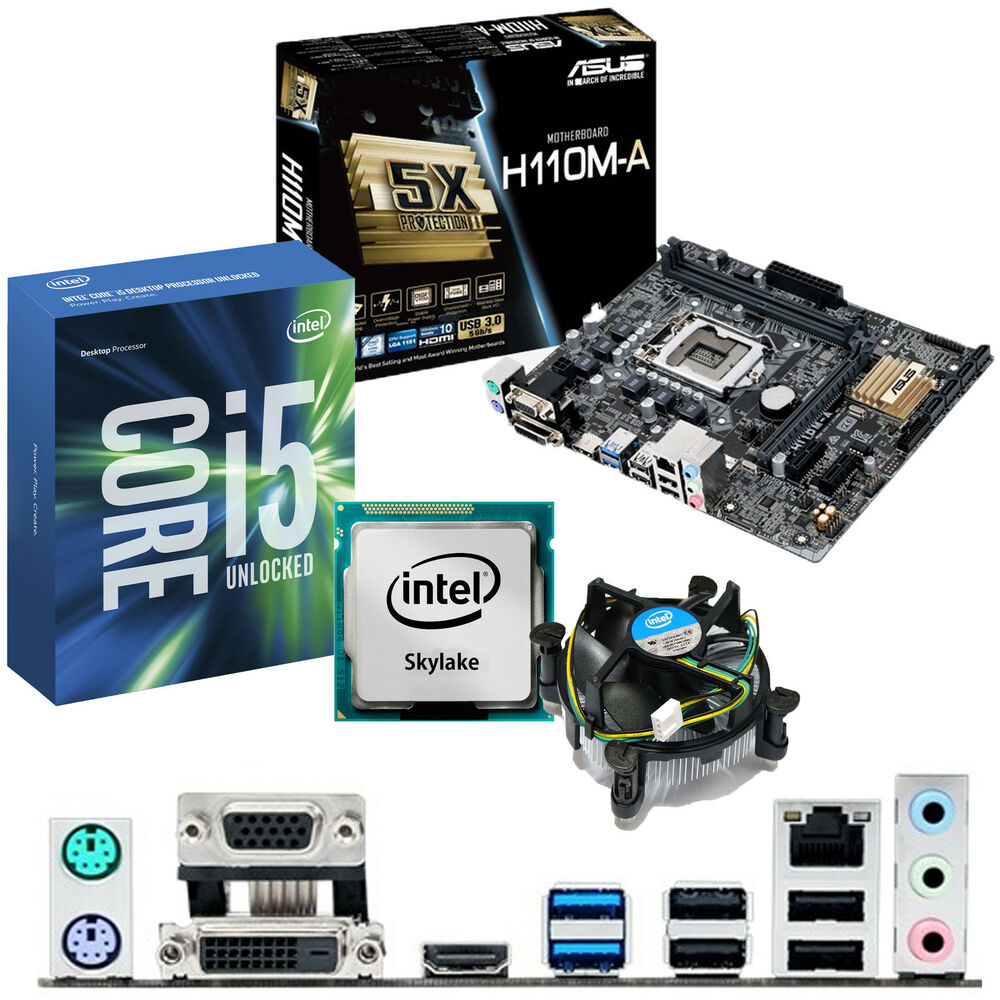intel core i5 6600k 3 5ghz asus h110m a motherboard. Black Bedroom Furniture Sets. Home Design Ideas