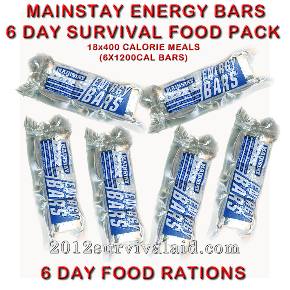 Mainstay 1200 calorie ration bars 6 pack emergency food for Er food bar 3600 calorie