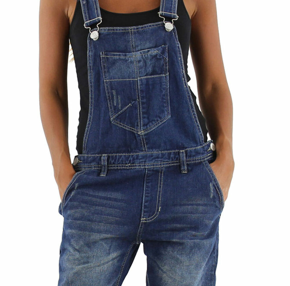 damen jeans hose baggy boyfriend latzhose latzjeans jumpsuit overall h ftjeans ebay. Black Bedroom Furniture Sets. Home Design Ideas