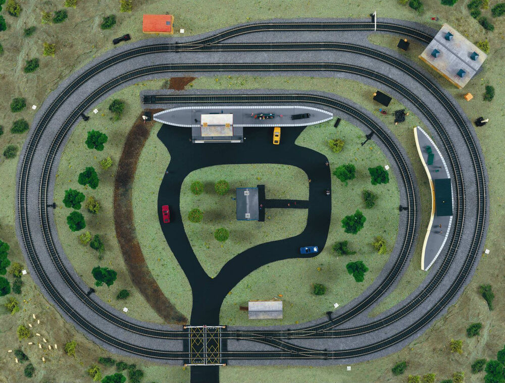 Hornby 00 Gauge 6 X 4 Layout Midimat Trakmat With Nickel