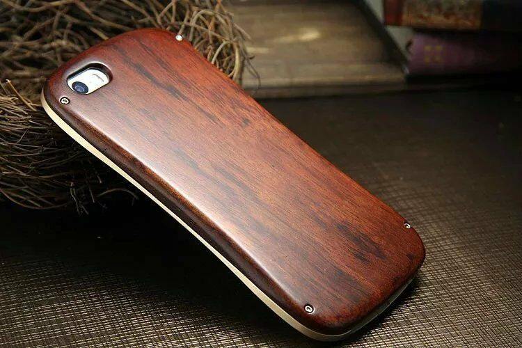 wooden iphone case real wood aluminum metal bumper cover 7750