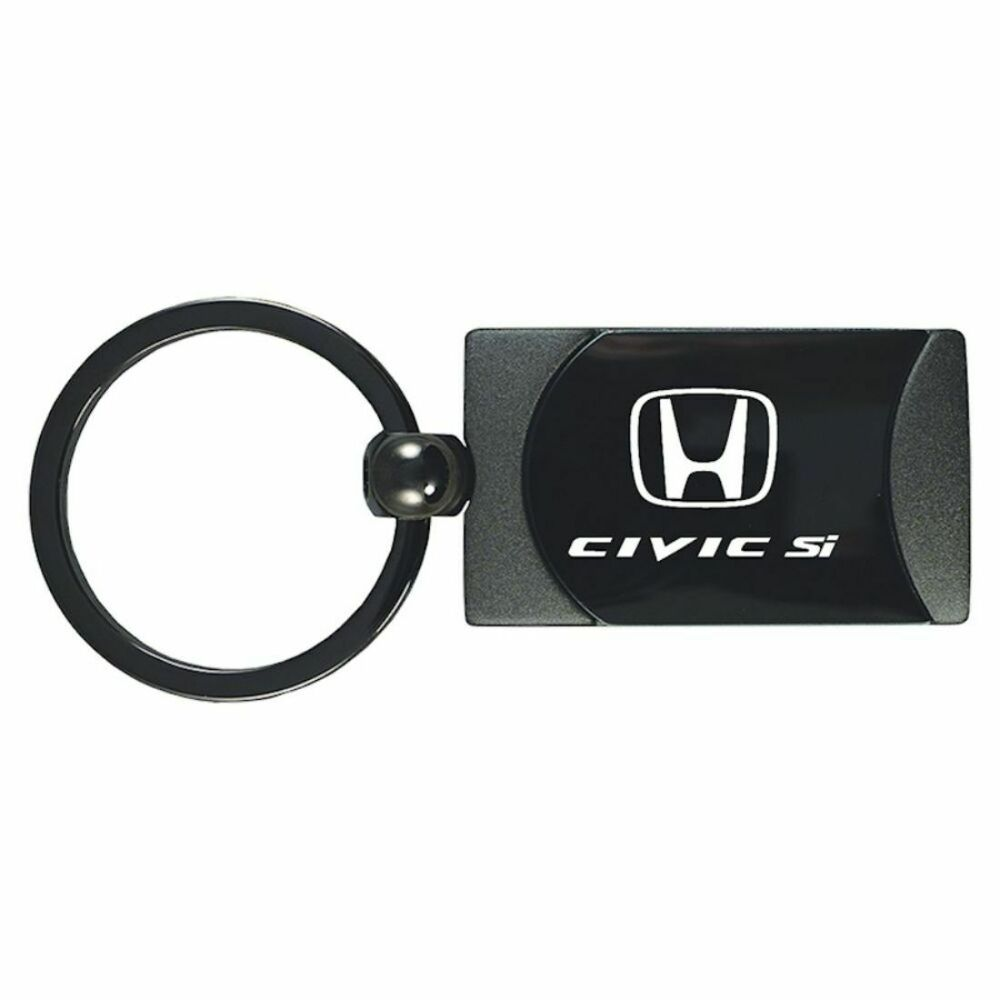 Honda Civic Key Fob >> Honda Civic Si Gunmeal Rectangular Keychain Car Fob Key Ring Chain Lanyard | eBay