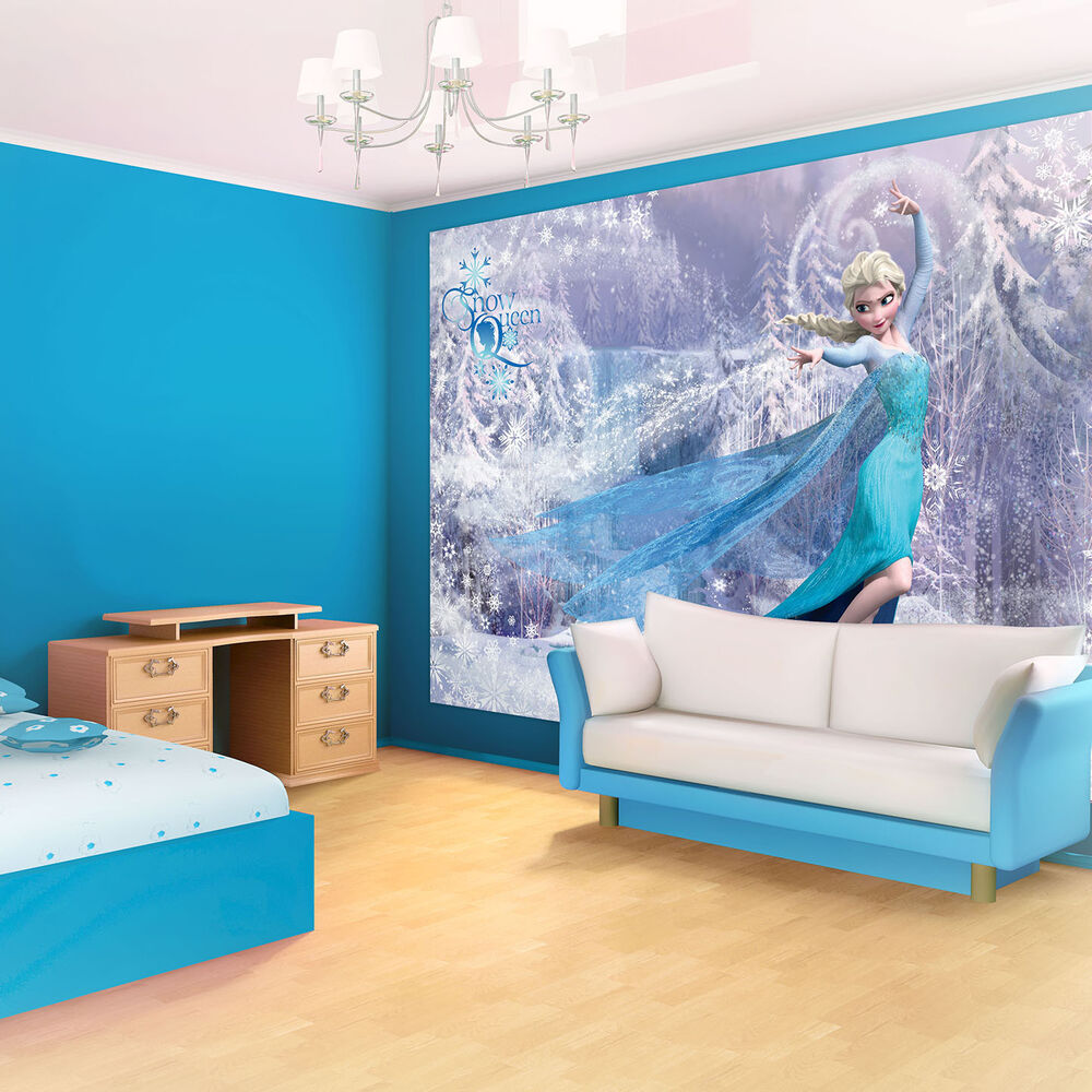 Poster tapeten fototapete wandbild tapeten frozen disney for Chambre reine des neiges