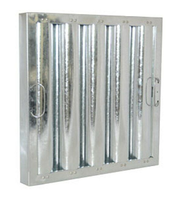 Hood baffle grease filters box of 6 20 x 20 galvanized ebay for Commercial kitchen grease filters