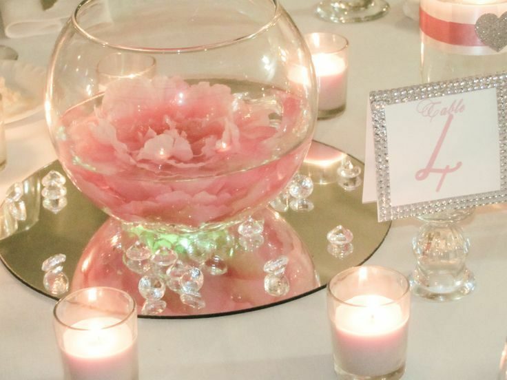 Pcs round glass mirror wedding party table decorations