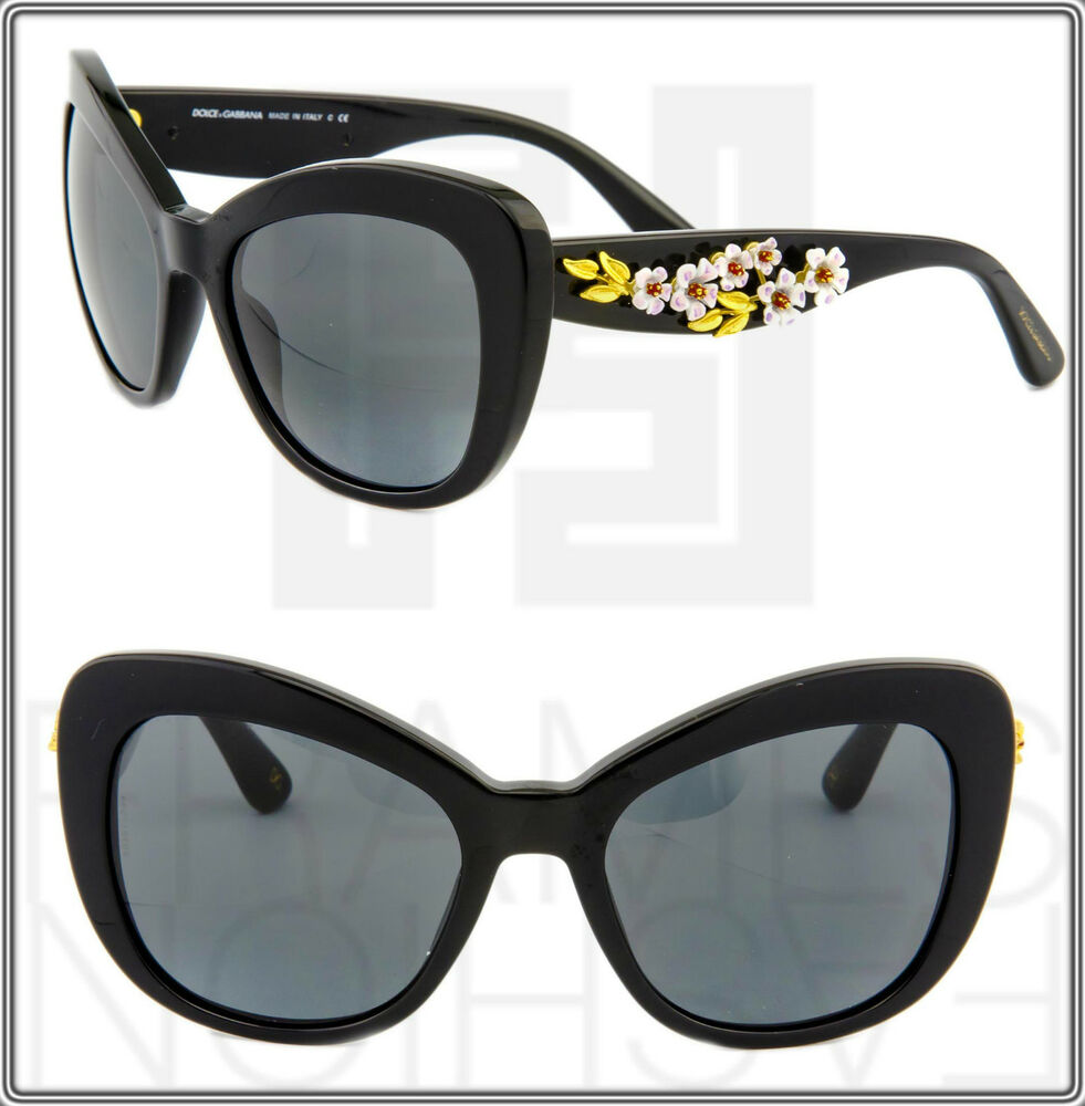 80a24f989896 Dolce   Gabbana Almond Flowers Black Butterfly Gradient Sunglasses DG 4230M  4230 8053672267648