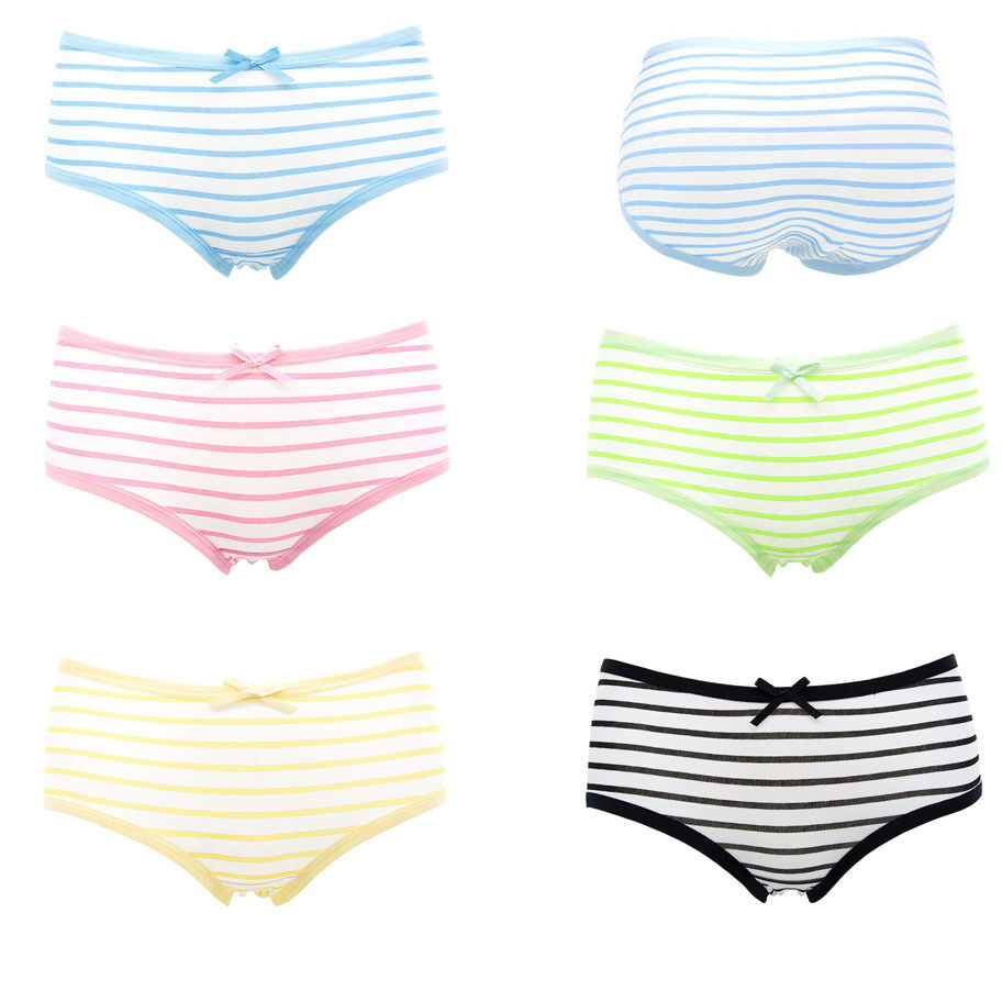 Details about cute japan anime style blue pink striped young girl panties underwear パンティー