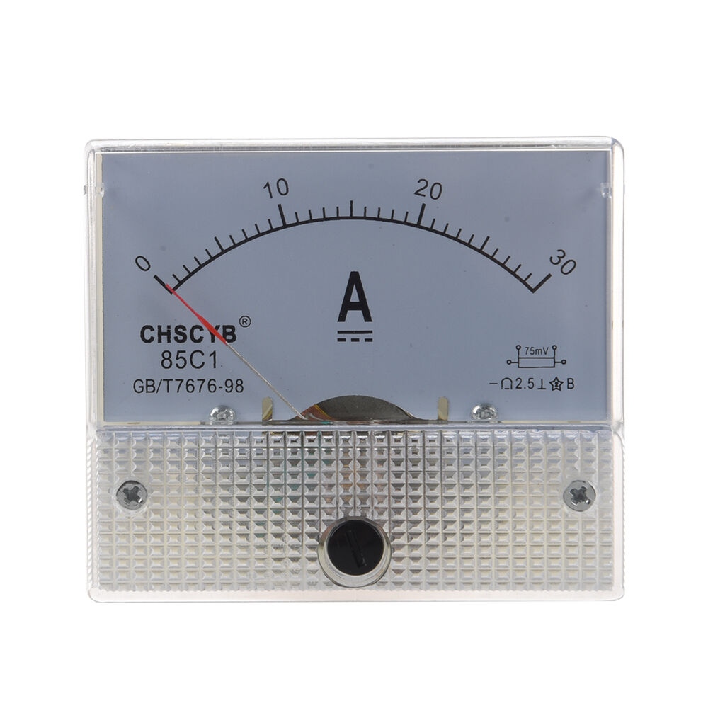 85c1 Analog Current Panel Meter Dc 30a Amp Ammeter Ts