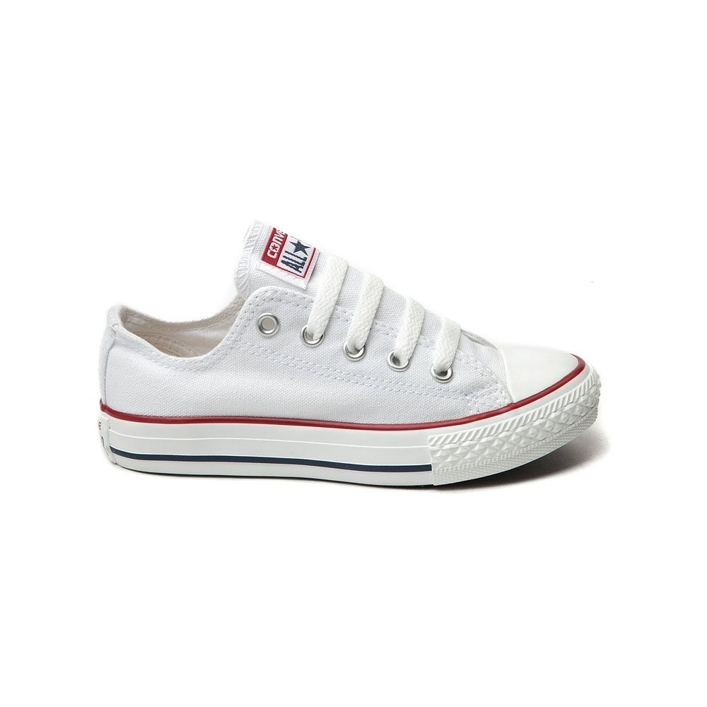 CONVERSE All Star Chuck Taylor Low Top WHITE YOUTH KIDS ...