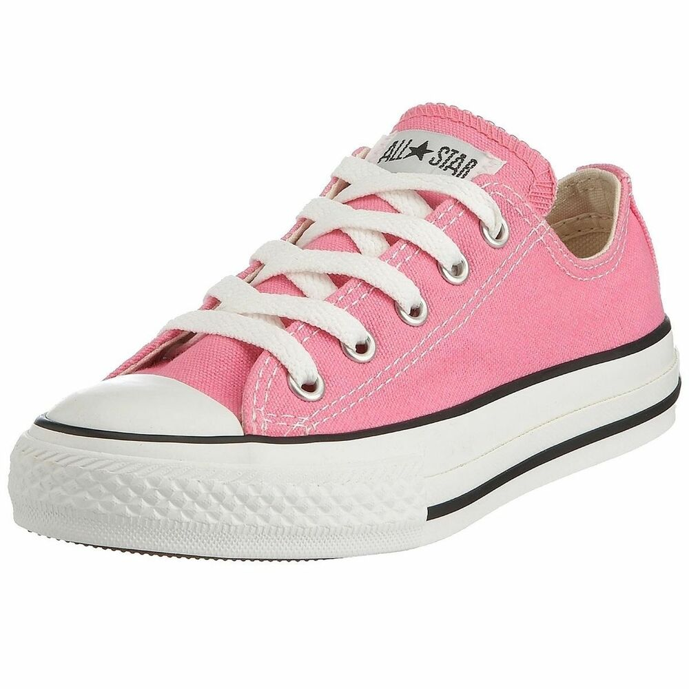 3a0ba3d0086654 Details about Converse Shoes Pink All Star Chuck Taylor Ox 3J238 Sneakers  Kids Girls Youth NEW