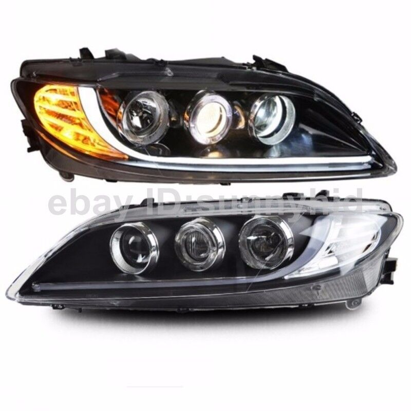 2003 to 2013 year for mazda 6 led strip headlights led. Black Bedroom Furniture Sets. Home Design Ideas