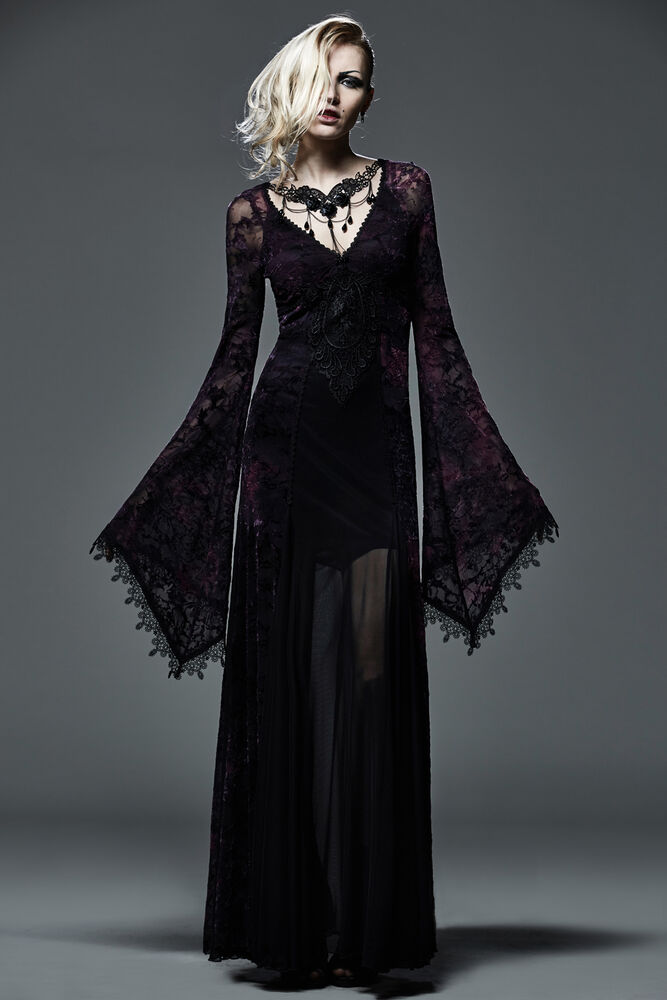 New Gothic Victorian Arwen Long Dress Retro Maxi Vampire