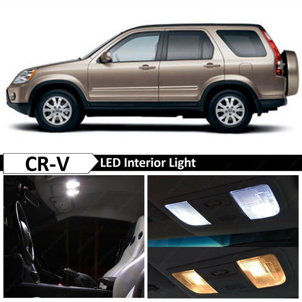 6x White Interior Map Dome Trunk Led Lights Package Fit