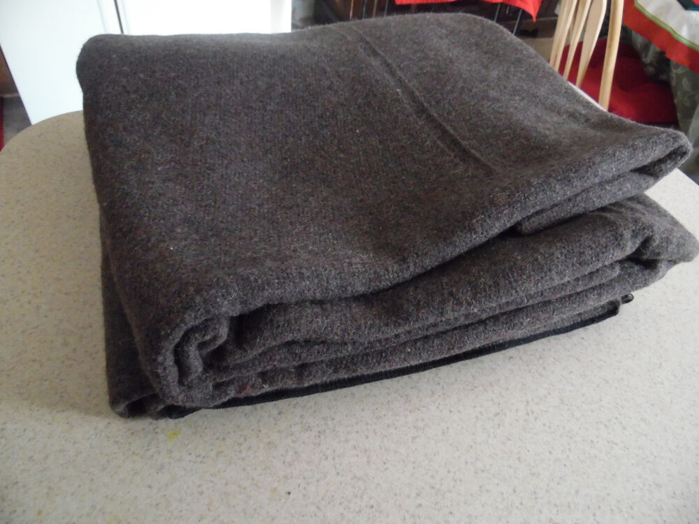 Vintage Us Military Fcda Stamped 4lb Wool Blanket Never