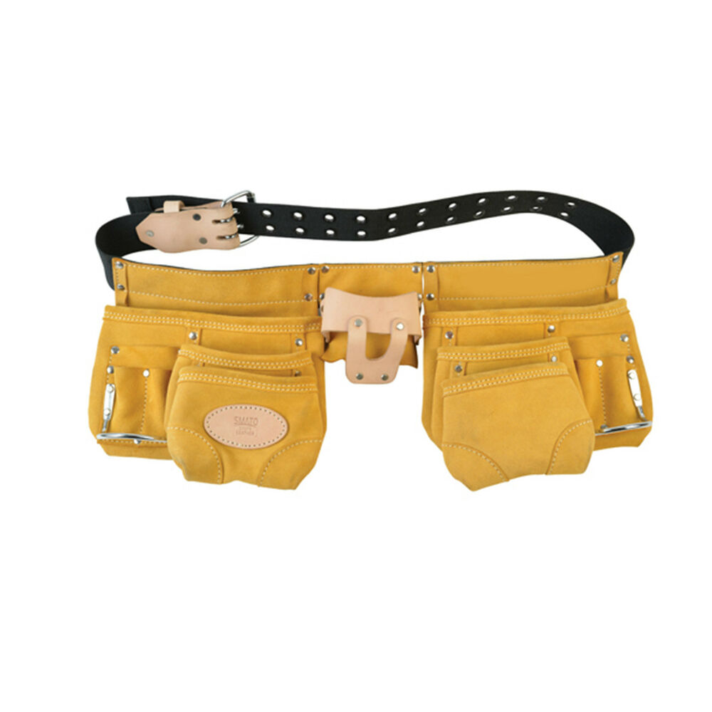 belt type leather tool pocket pouch electrician carpenter