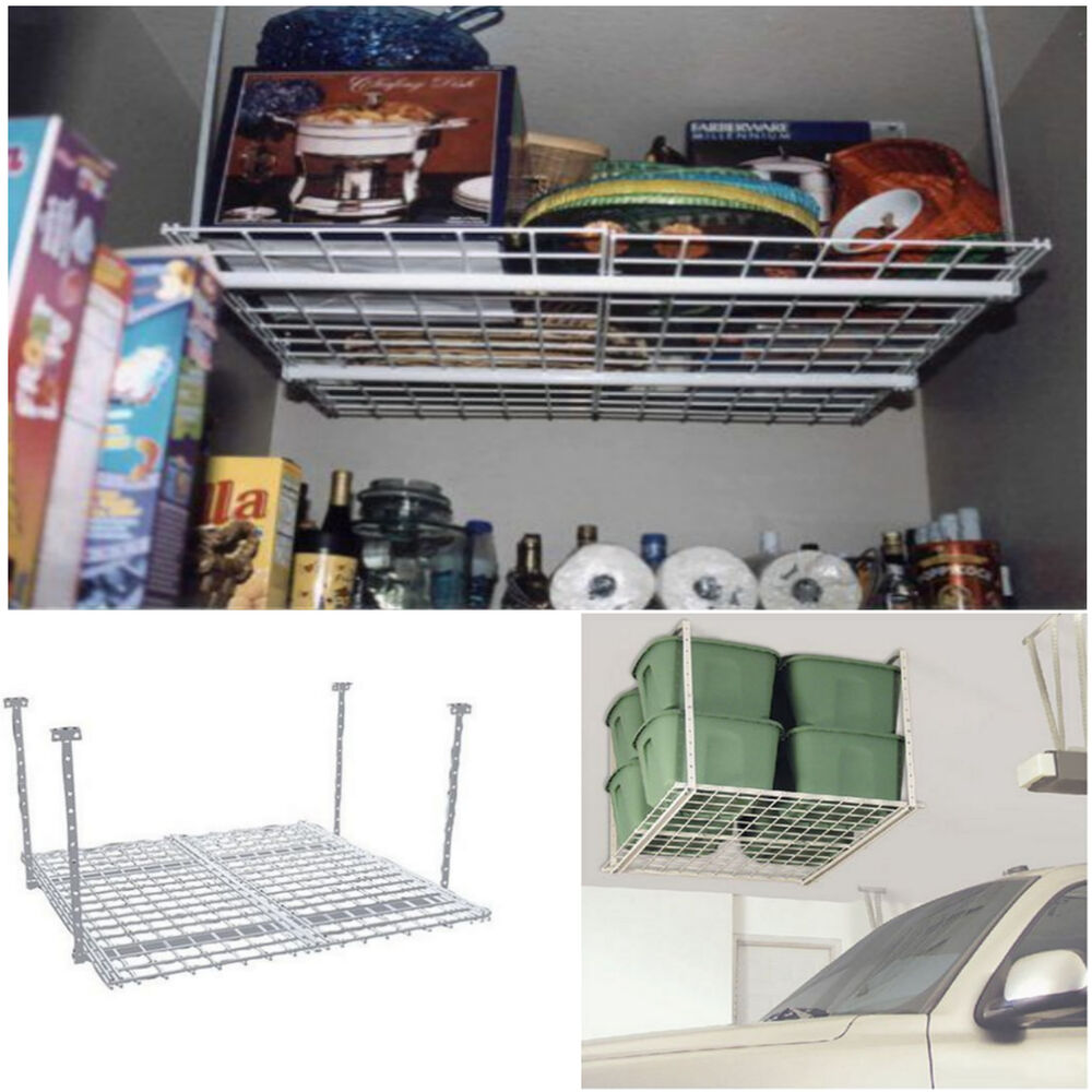Storage Shelf Ceiling Garage Overhead Raises Rack Hanging