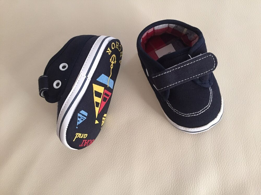 NEW Baby Boy Canvas Boat Shoes navy blue size 3 6 9 12