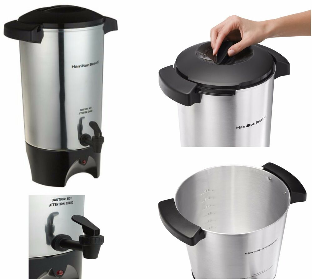 Brew Hot Water Coffee Maker : Large Coffee Urn Machine Maker Big Office Commercial Dispenser Brewer Hot Water eBay