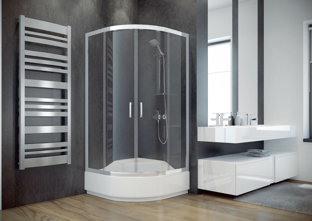 CORNER SHOWER CABIN- DEEP TRAY RISED SEAT 900mm x 900mm QUADRANT ...