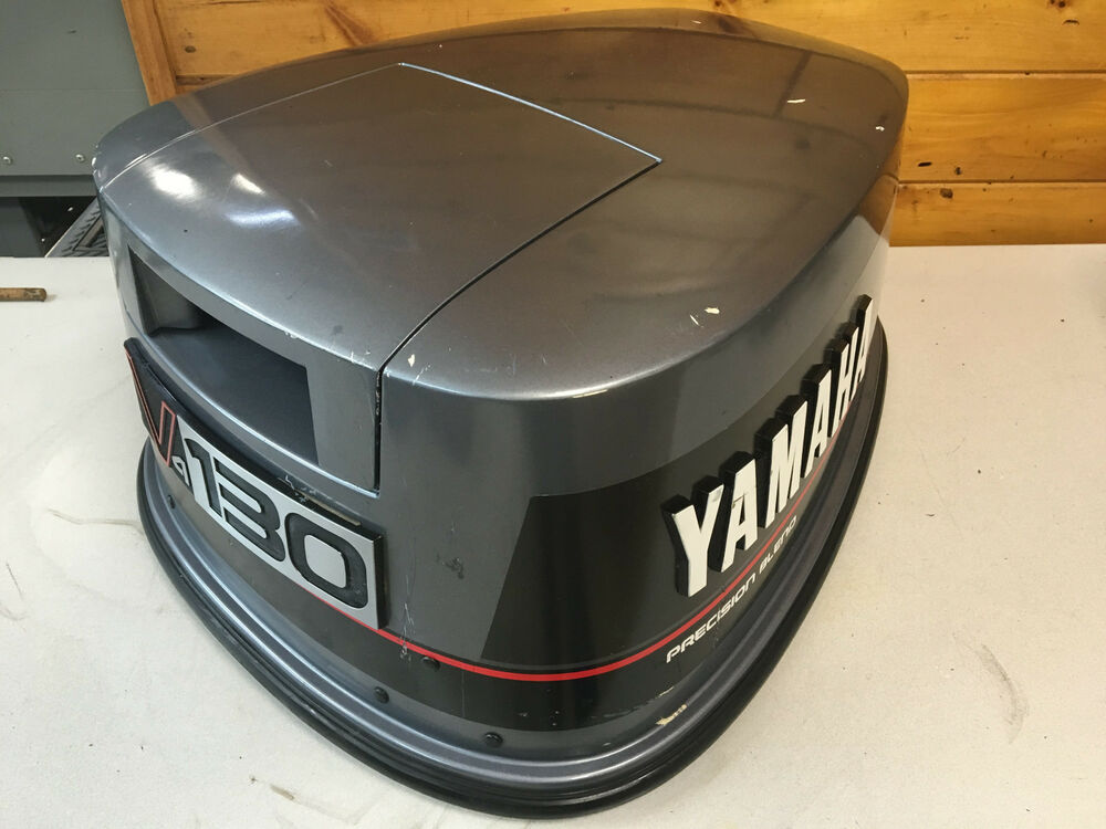 1988 yamaha 130 hp 2 stroke v4 outboard engine top cowl for Best outboard motor for saltwater