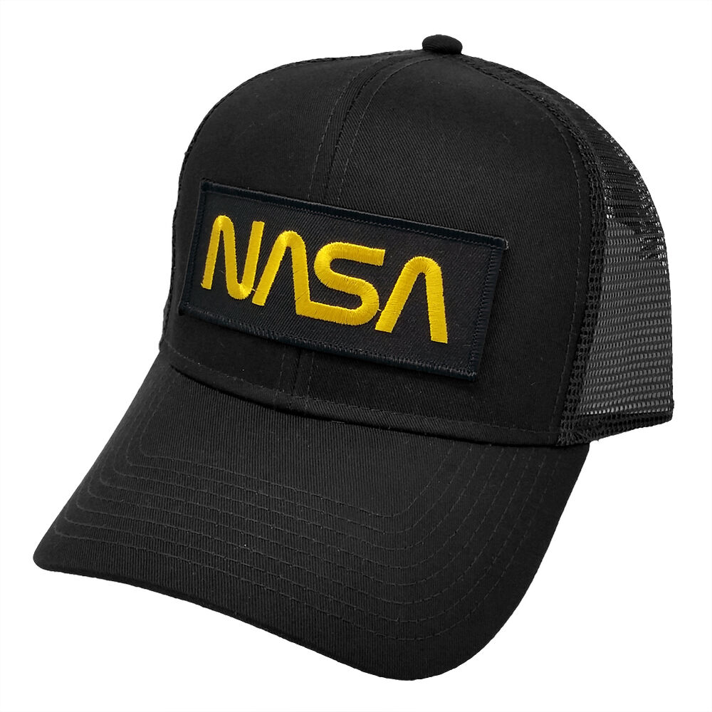 Details about Nasa Gold Letter Black Military Patch Trucker Mesh Snapback Baseball  Cap Hat 287da8dcfbf5