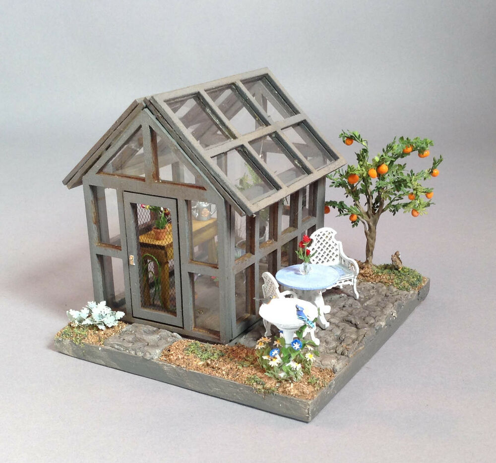 Doll House Miniature Quarter Scale Greenhouse Fully