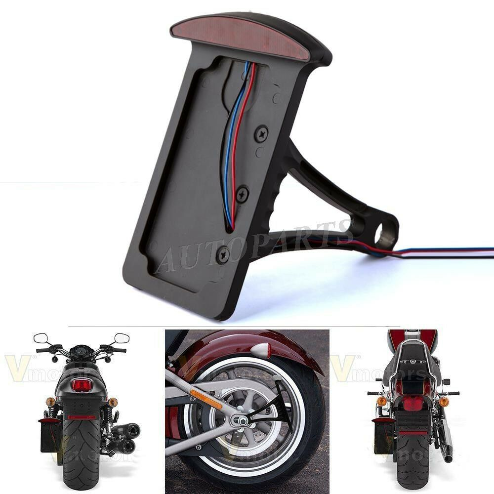 Motorcycle Vertical Mount License Plate Tail Light Bracket