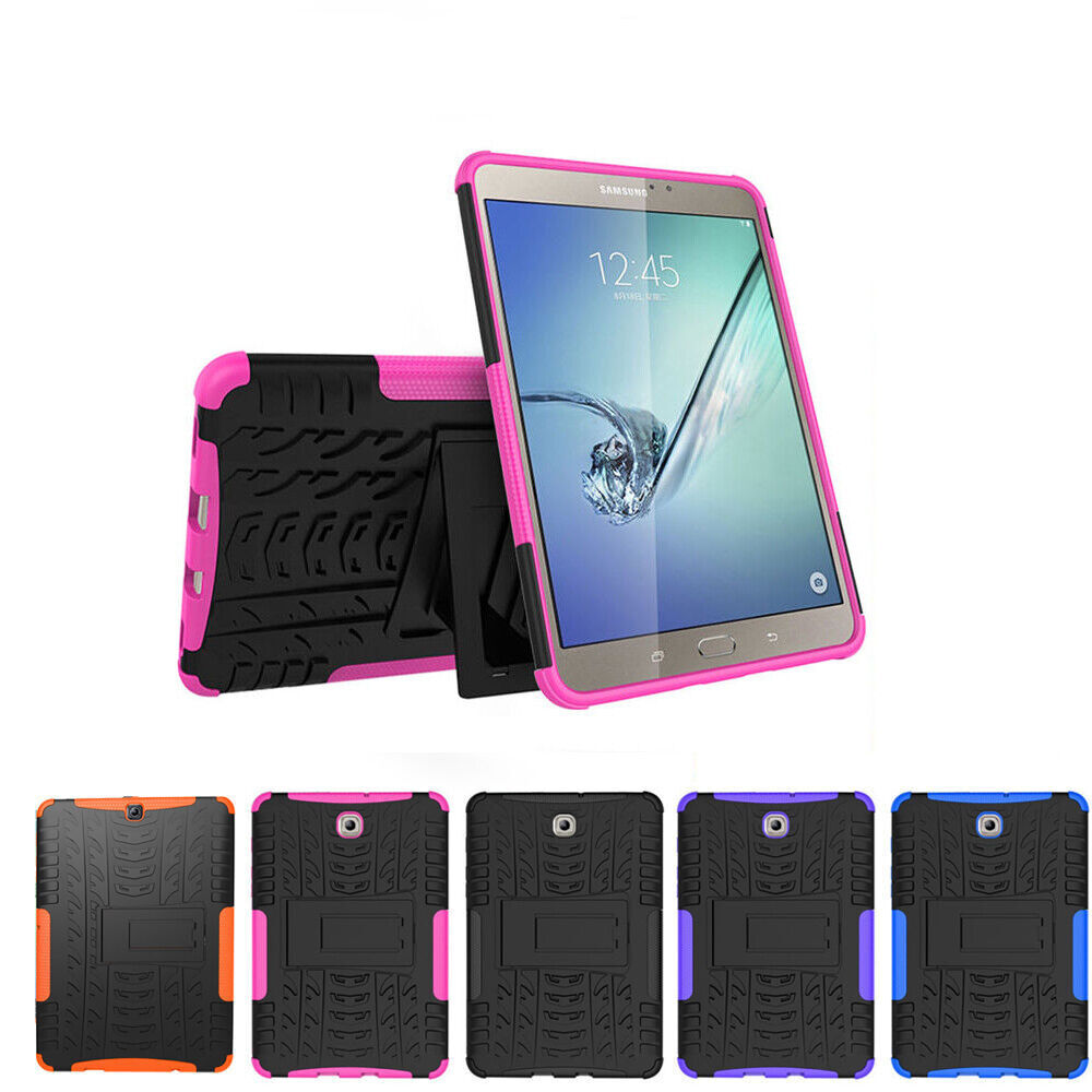heavy duty rubber tablet cover case for samsung galaxy tab s2 8 0 9 7 t710 t810 ebay. Black Bedroom Furniture Sets. Home Design Ideas