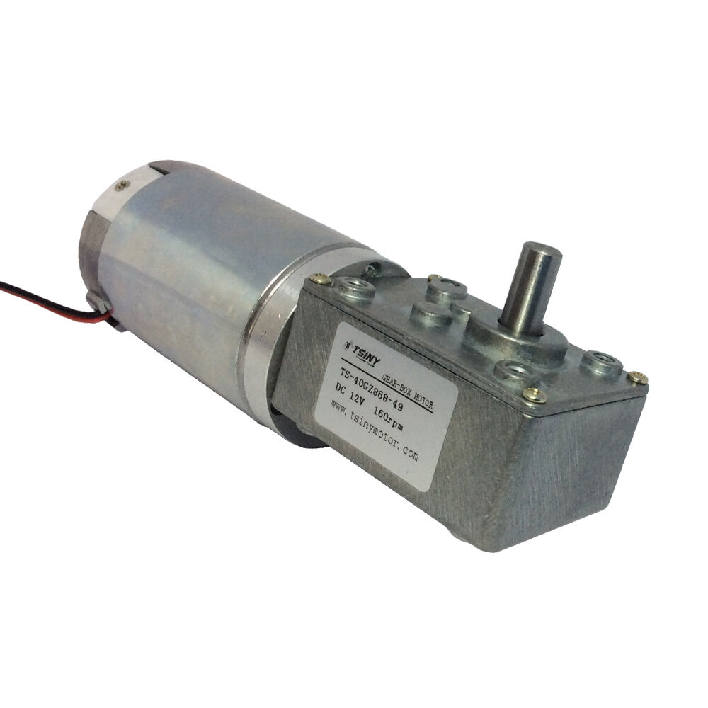 Dc worm reducer gear 12v 160rpm high torque motor electric Electric motor with gearbox