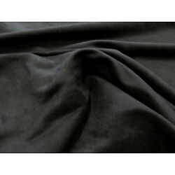 Kyпить MICROSUEDE Faux Black Suede Fabric Upholstery 58