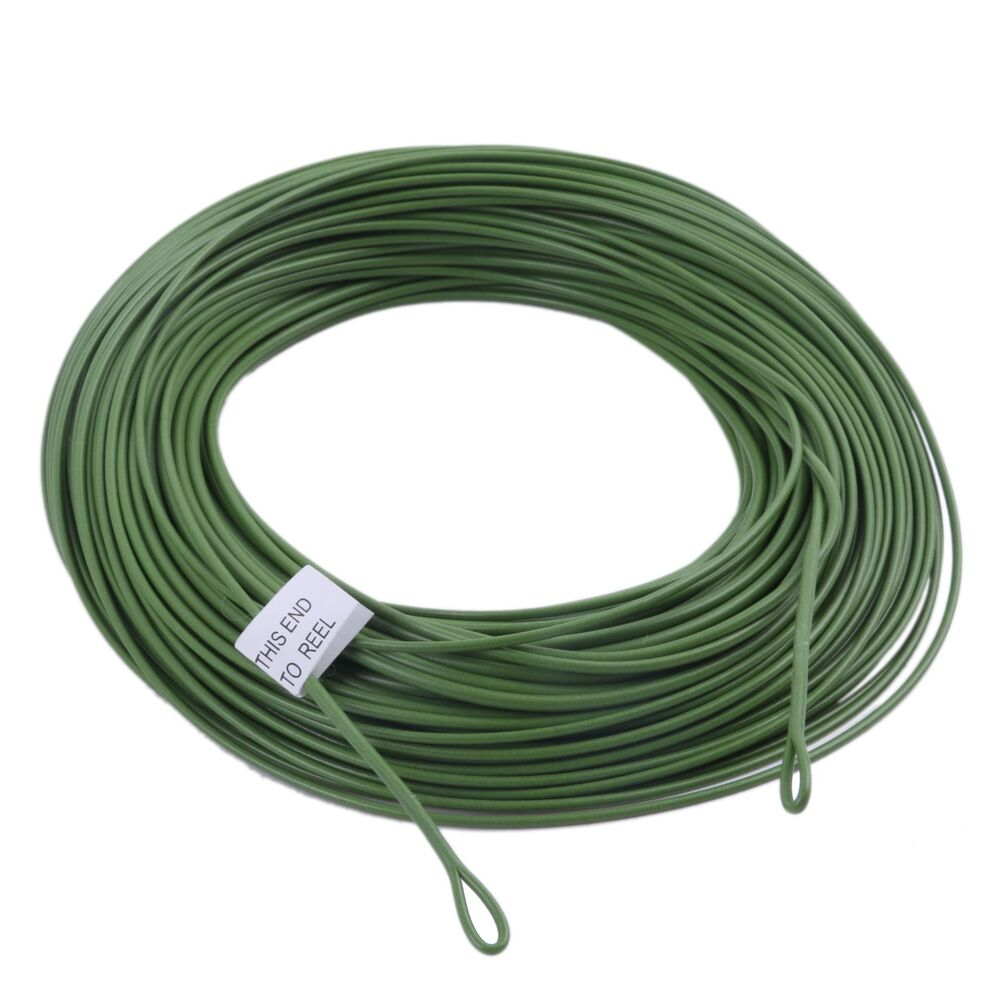 WF10/12F Floating Fly Line Grass Green Fly Fishing Line ...