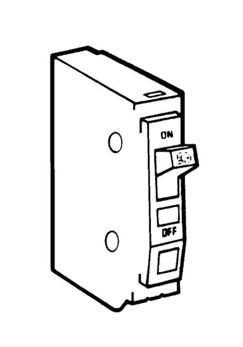 circuit breaker no qo115cp  square d by schneider electric