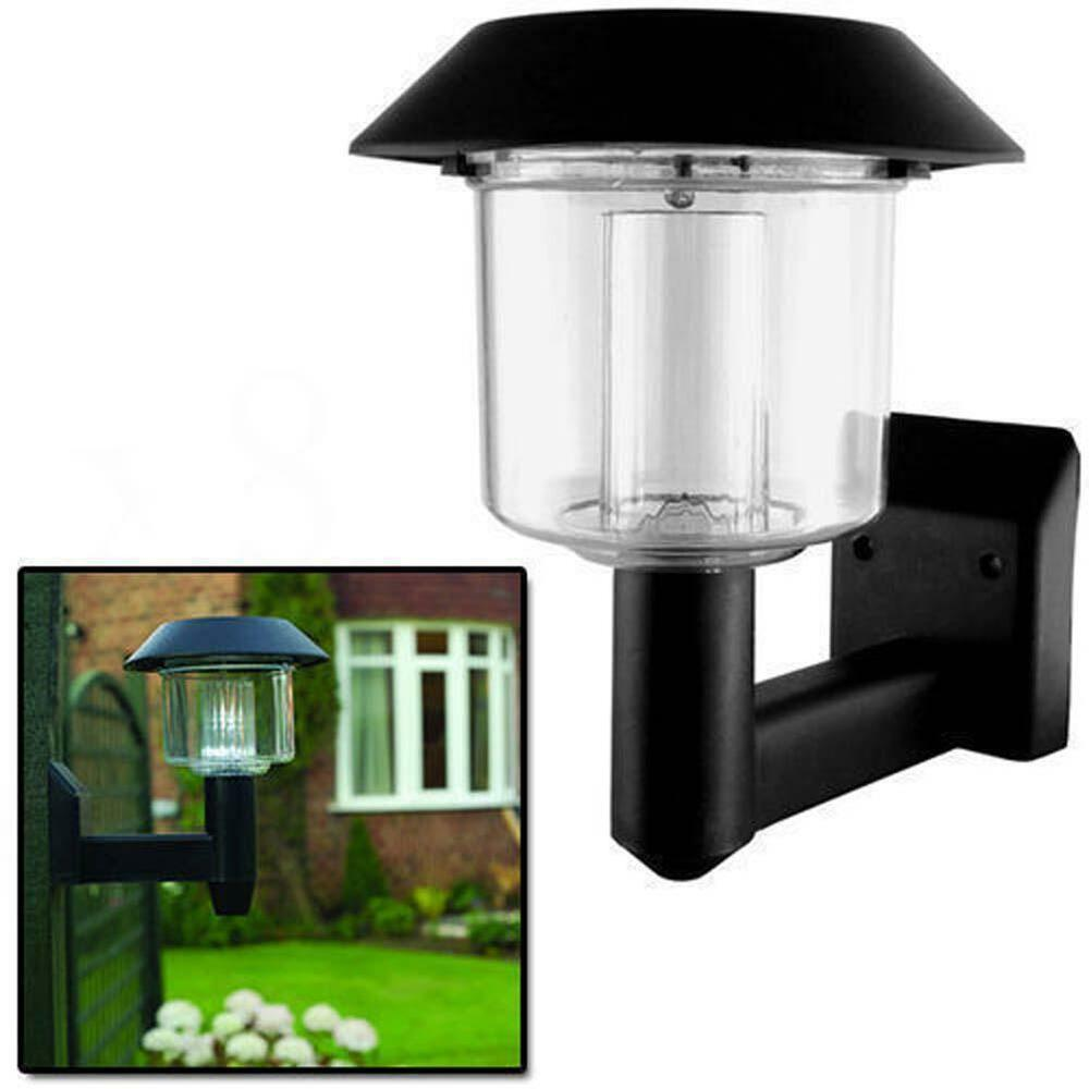 Outdoor Post Lights Led: Bright LED Solar Powered Fence Gate Wall Lamp Post Light