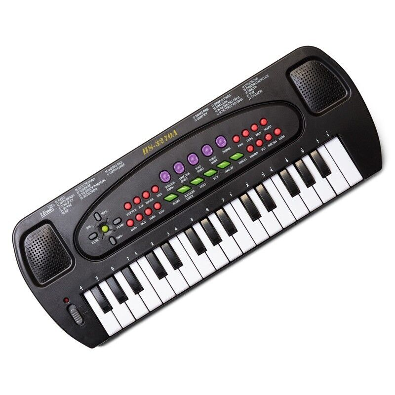 electronic keyboard musical karaoke piano with 32 keys and. Black Bedroom Furniture Sets. Home Design Ideas