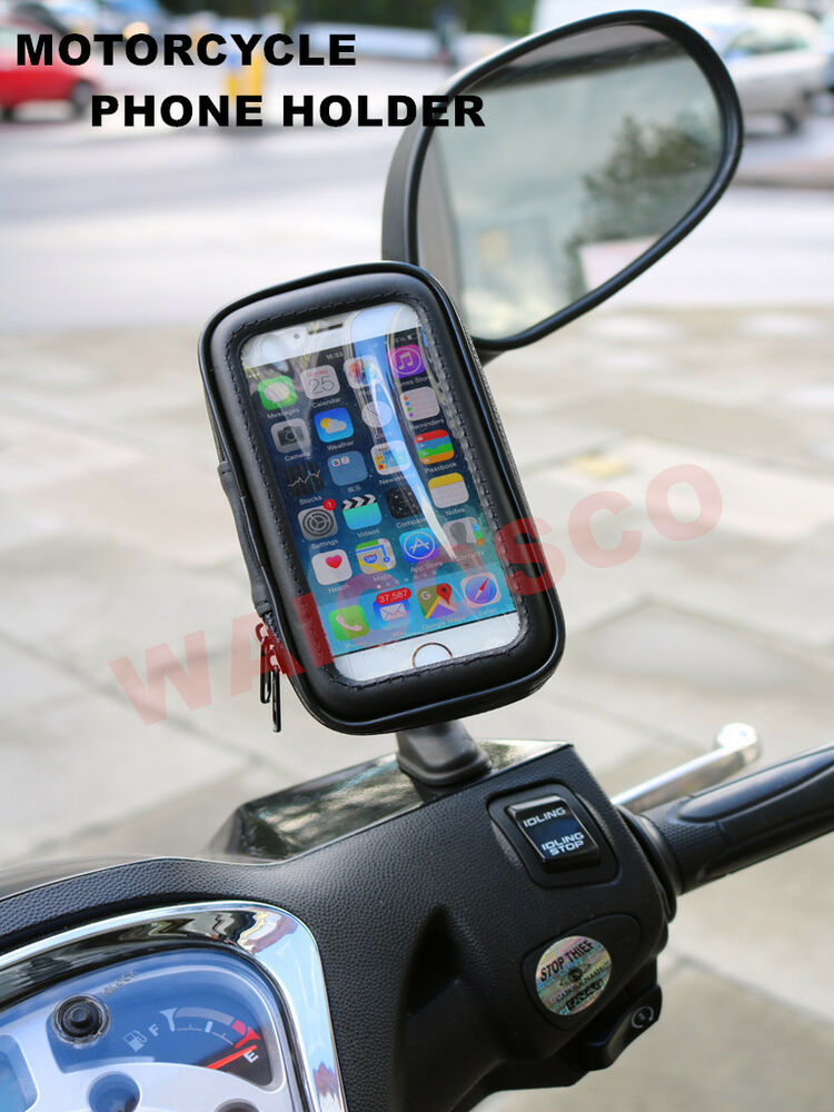 motorcycle scooter bikecycler mobile phone holder for iphone samsung htc sony ebay. Black Bedroom Furniture Sets. Home Design Ideas