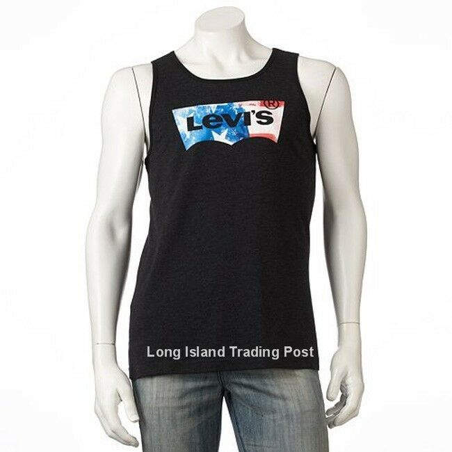 Levis jeans mens graphic original batwing logo tank top for Mens t shirts free shipping