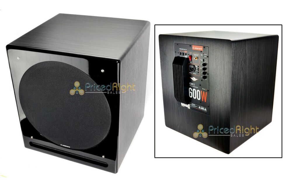 new 15 powered home theater audio subwoofer sub surround sound cadence csx 15 812902005713 ebay. Black Bedroom Furniture Sets. Home Design Ideas