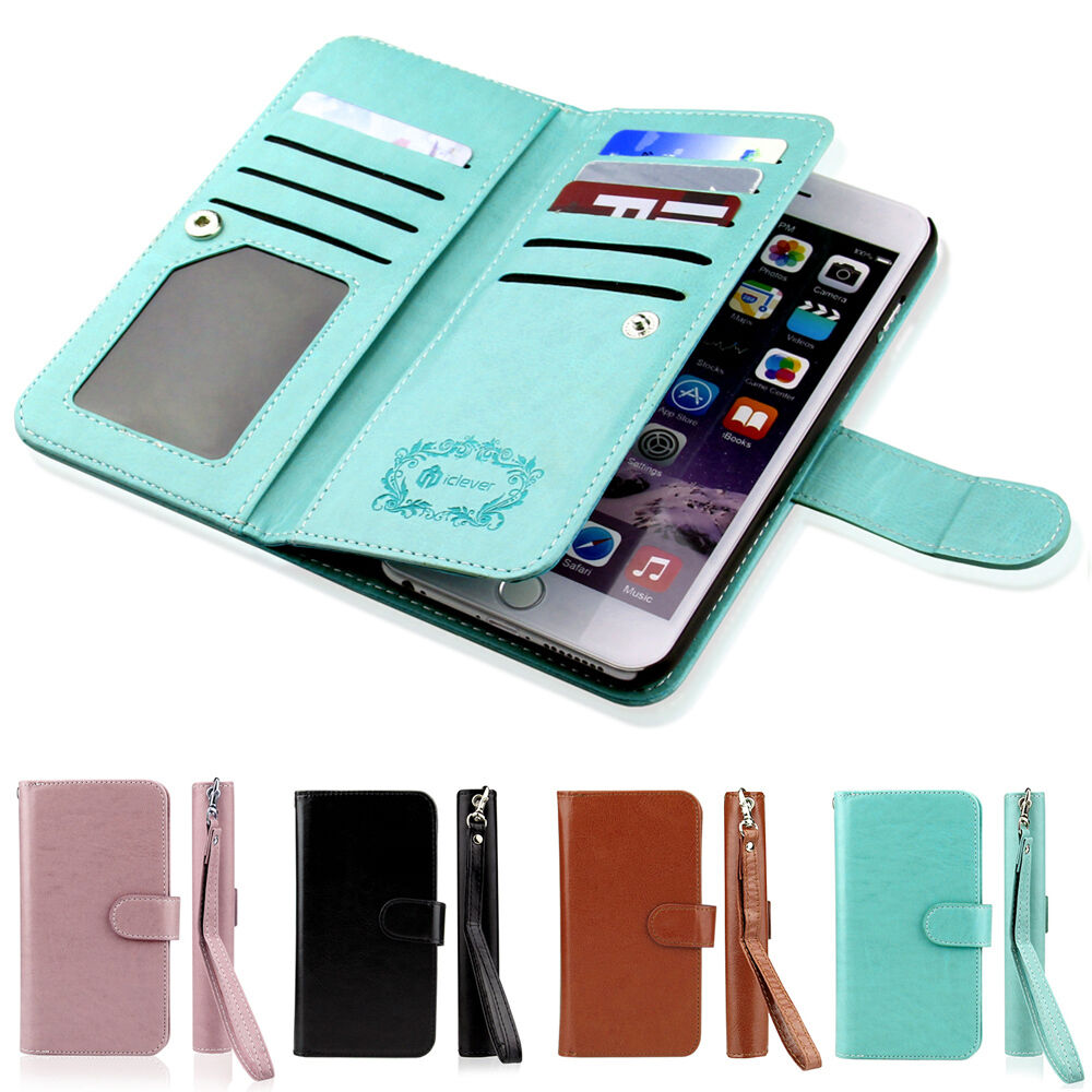 Luxury Leather Flip Credit Card Slot Stand Cover Case