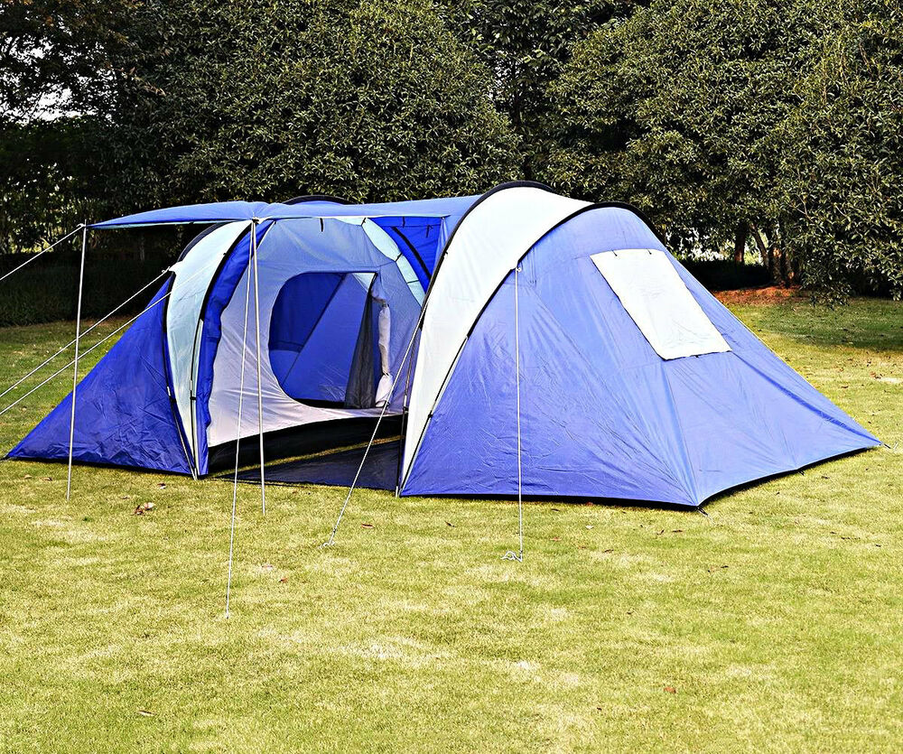 camping gear tents 6 8 person pop up tent for sale family instant gazebo shade ebay. Black Bedroom Furniture Sets. Home Design Ideas
