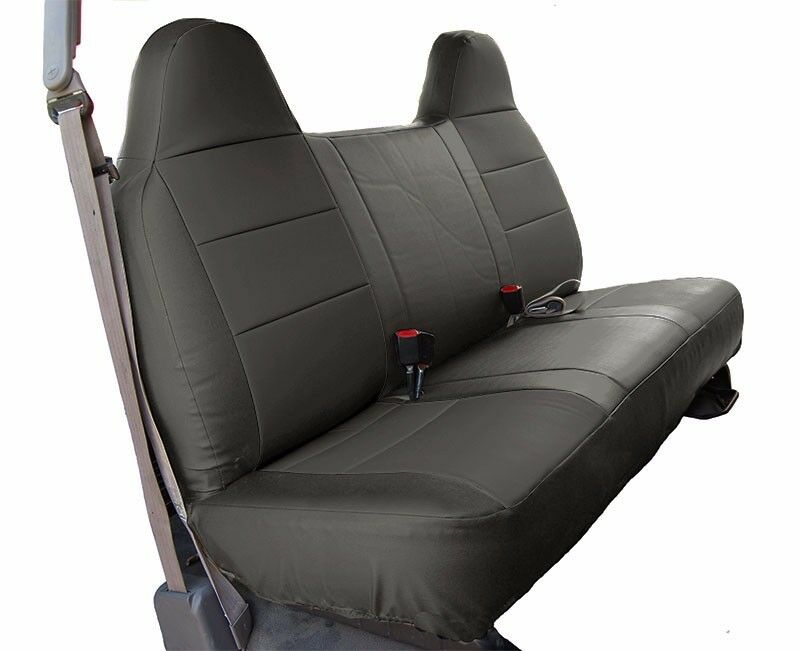 Custom F 150 >> FORD F-250 350 CHARCOAL LEATHER-LIKE CUSTOM MADE FIT FRONT BENCH SEAT COVER | eBay