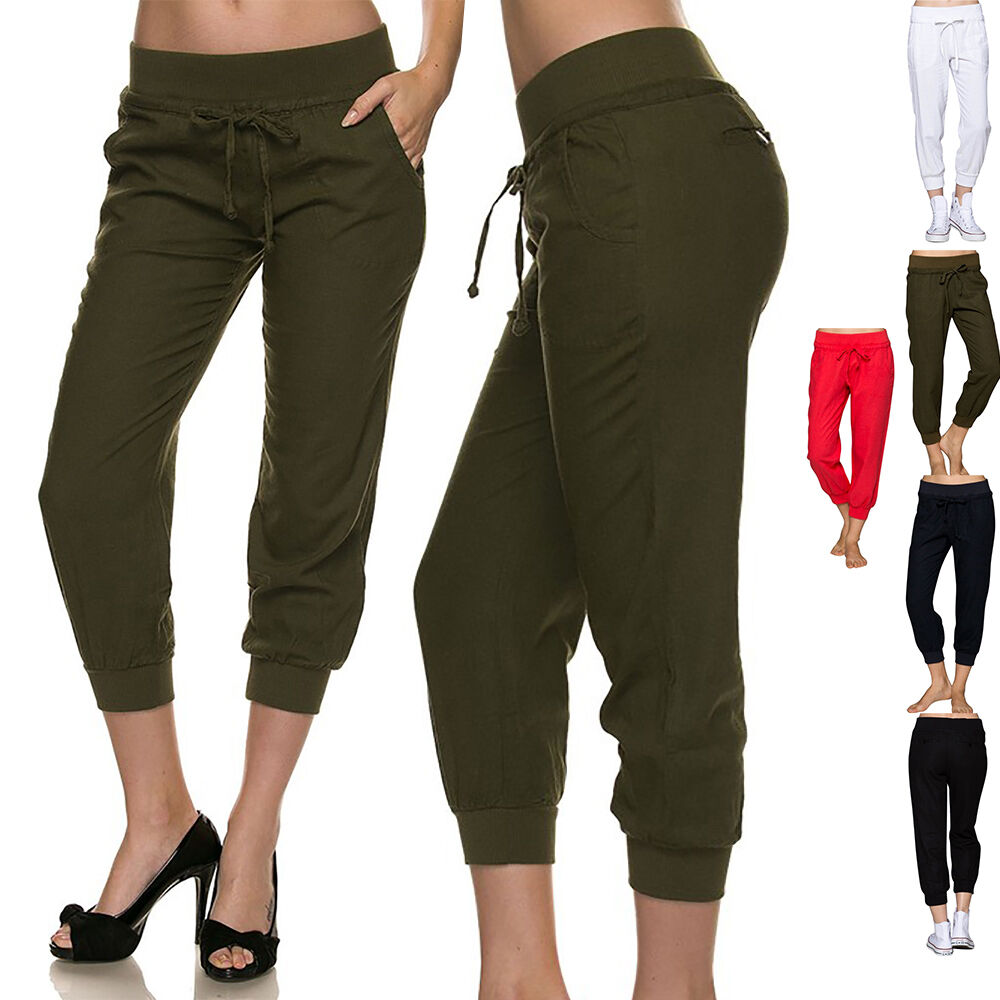 Innovative  About G Med Womens Elastic Waist Capri Scrub Pants With Side Pockets