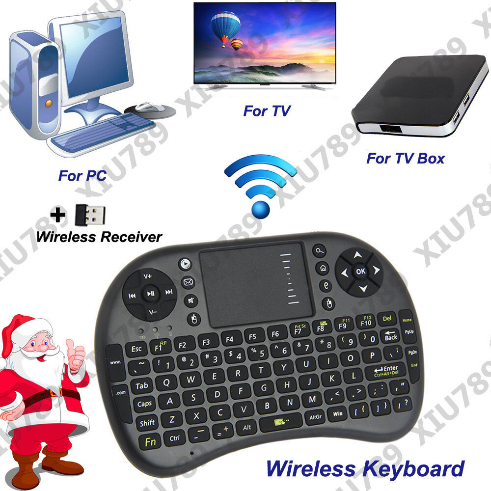 Bluetooth Keyboard For Android Box: 2.4G Mini Wireless Touchpad Keyboard For Android Smart TV Box PC UK Stock